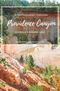 Providence Canyon State Park, red rock canyon