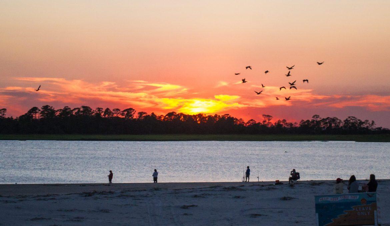 Tybee Island sunset, Savannah, Georgia