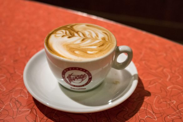 Perfect latte art by Espresso Vivace, Seattle, Washington