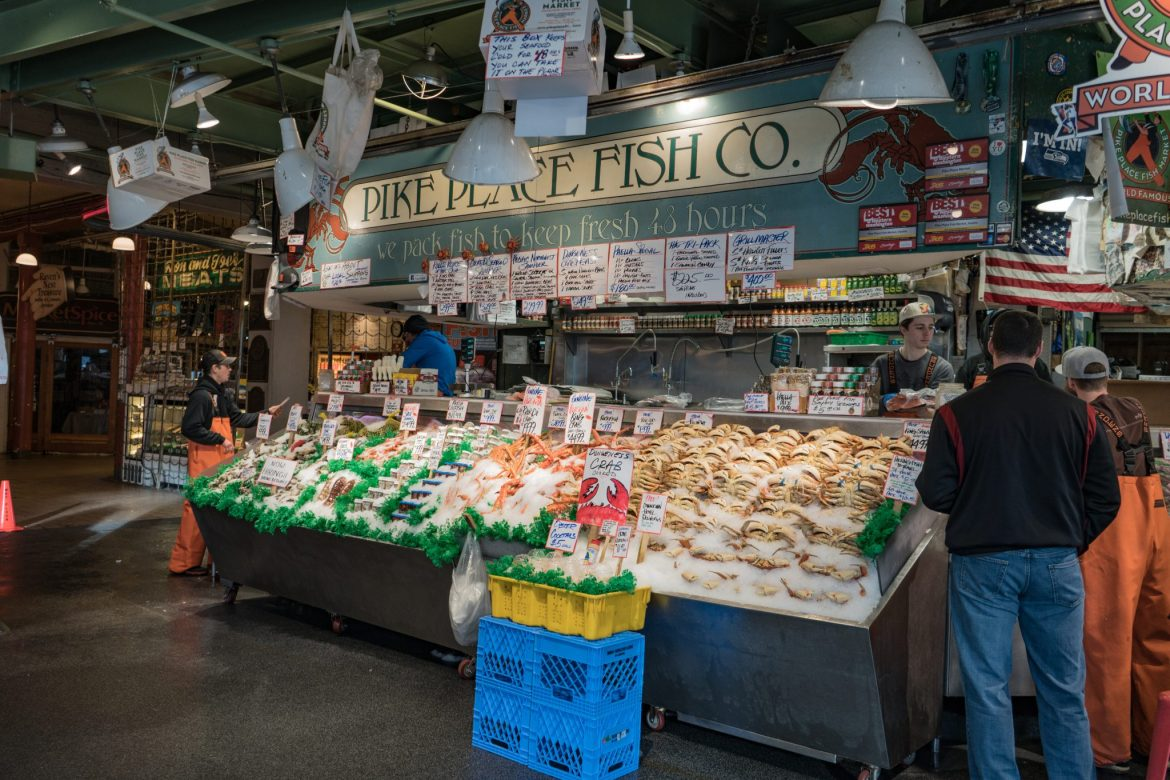 Pike Place Fish Co, Pike Place Market, Seattle