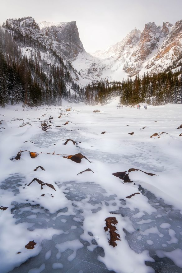 Dream Lake, Rocky Mountain National Park in the winter
