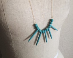 Magnesite Stone Spike Necklace - $30