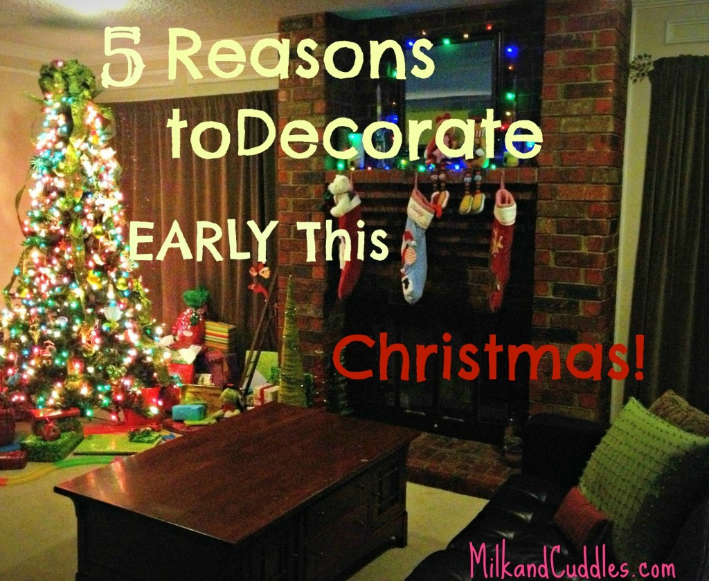 Why Im In FAVOR Of Early Christmas Decorating