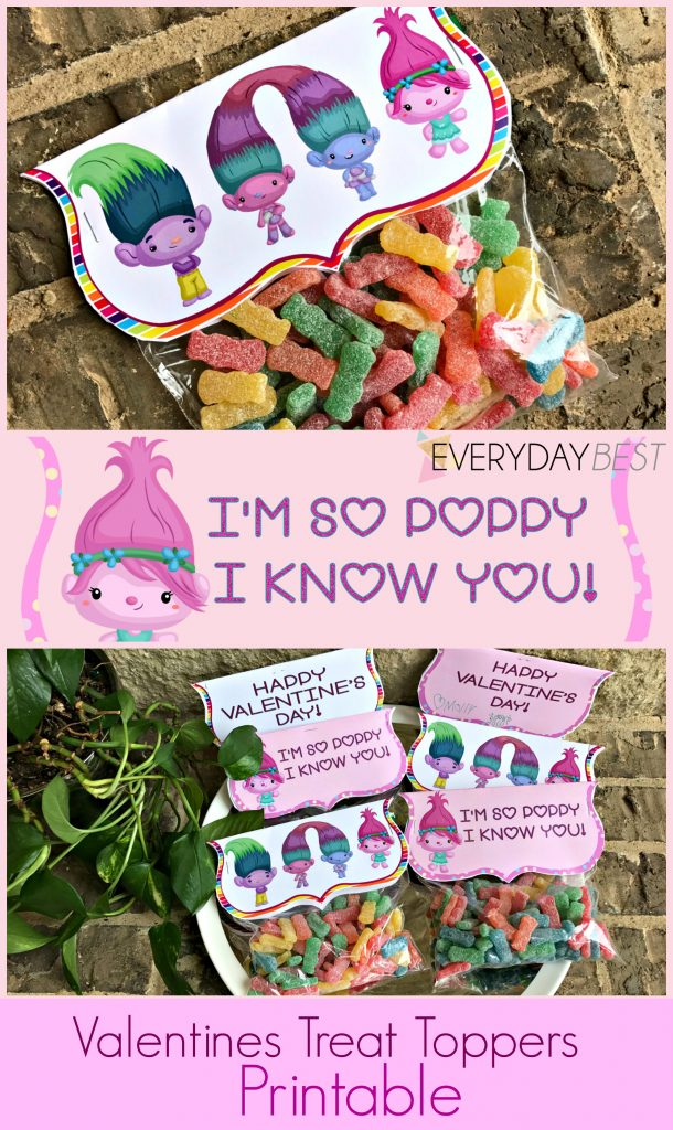 Troll Inspired Valentine Toppers Free Printable Everyday Best