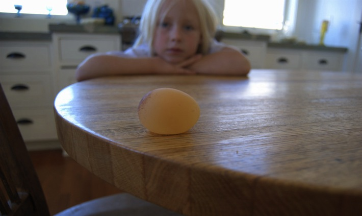 nora and strange egg