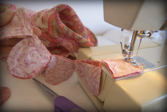 sewing flowers for applique