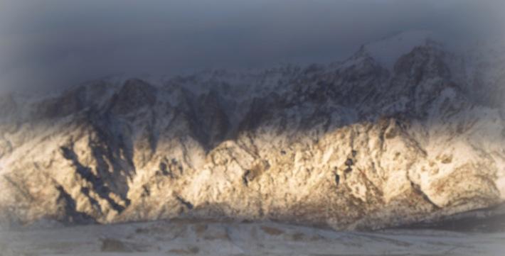 still, still, still...mountain Ben Lomond in sunlight