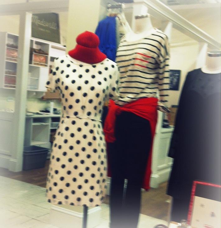 black spotted dress, Tyson's corner