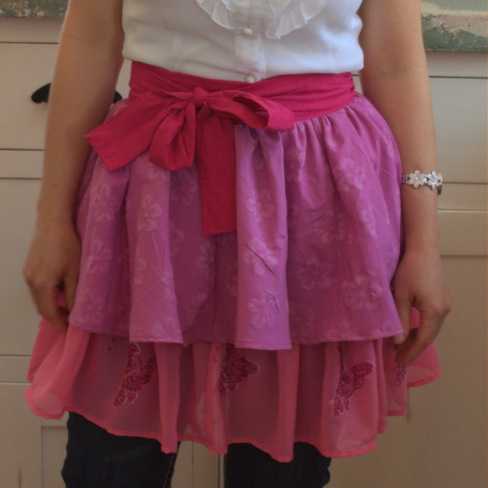 Homemade Apron in Pink