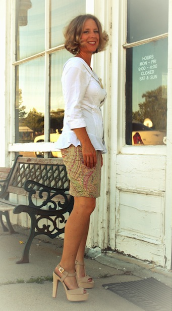 refashioned short pencil skirt