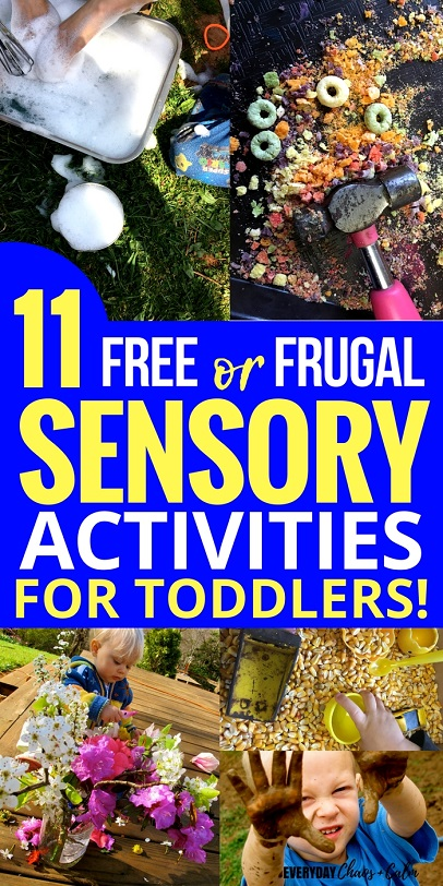 Sensory Activities for Kids: 11 sensory activities for toddlers that are either 100% free- or super frugal- to make!