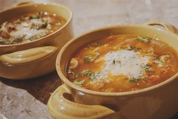 Healthy Meatball Vegetable Soup / Dutch Oven Soup / Fall Vegetable Soup / Hearty Winter Soup