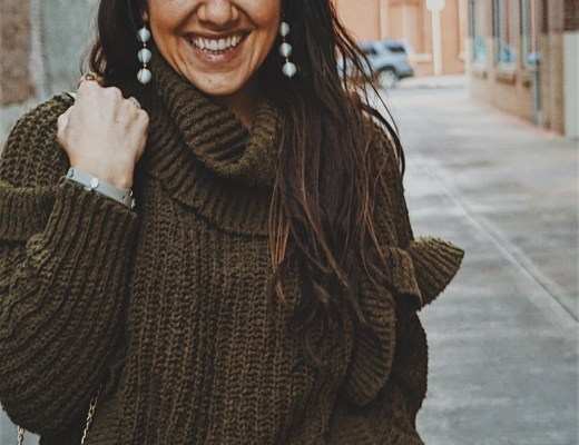 Favorite Sweaters Under $50 | Best Sweaters Under $50 | Sweaters on a Budget | Cute Ruffled Sweaters | Cozy Woman's Sweaters