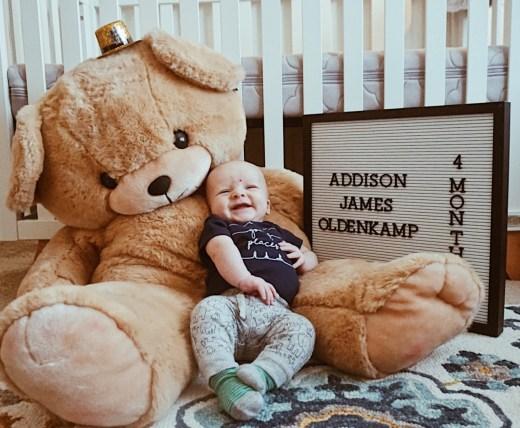 4 Month Update: Addison James | Everyday Mama