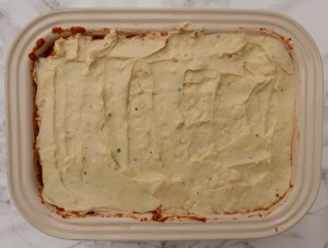 A dish of lasagne before cooking
