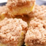 Pieces of Apple Streusel Cake on a plate