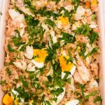 Kedgeree in a serving dish