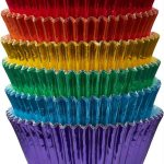 Metallic cupcake cases in rainbow colours