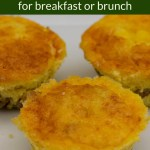 3 Breakfast Savoury Muffins on a white plate