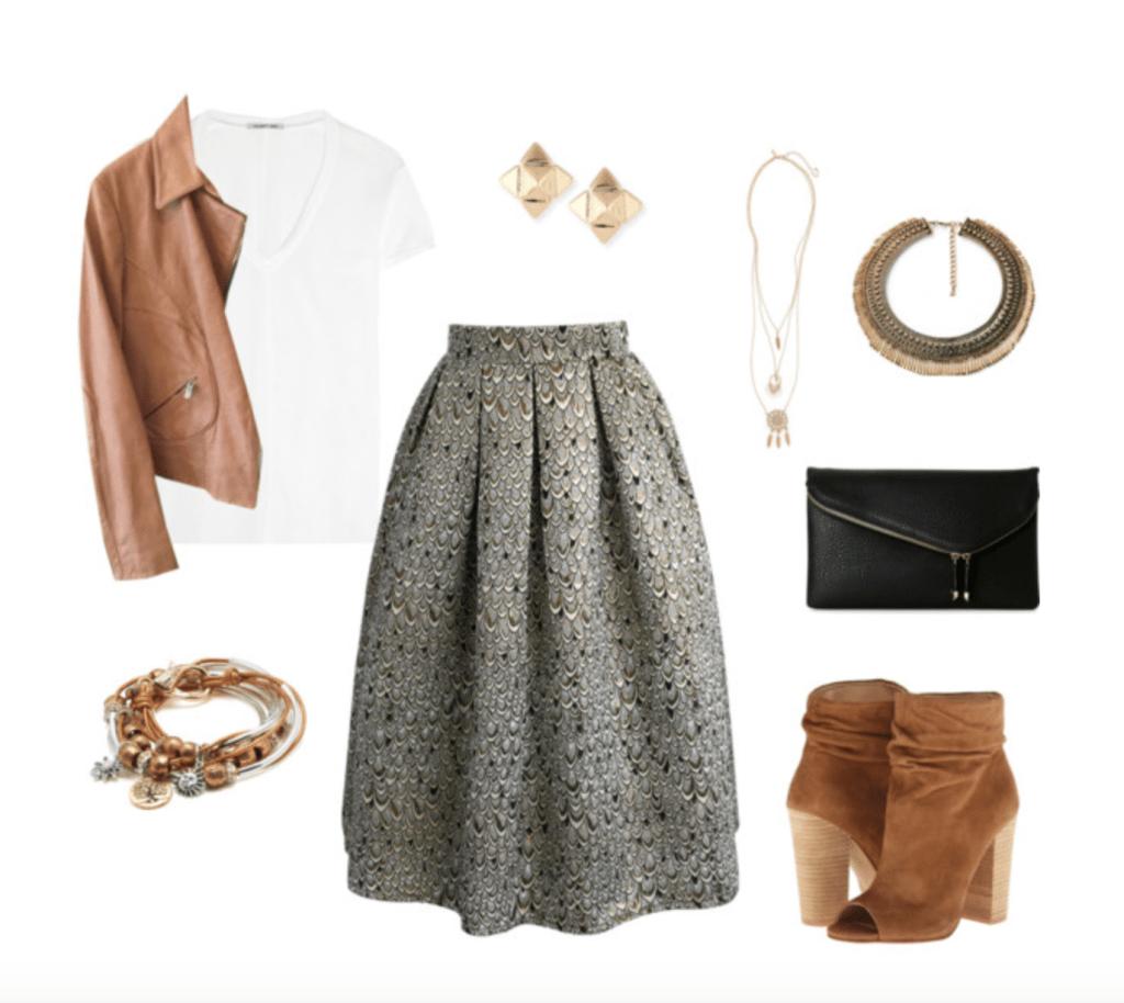 Aline skirt and tee