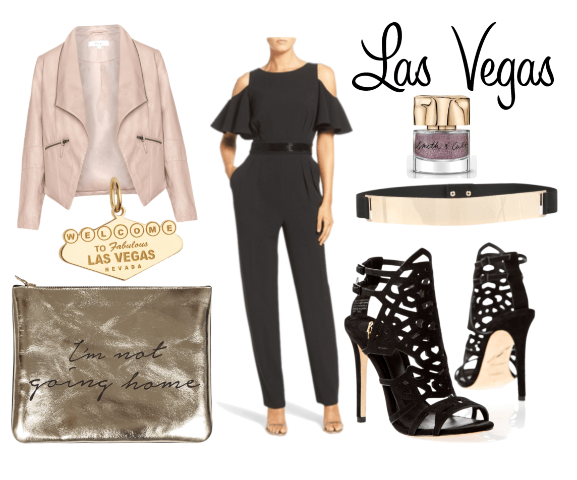 A Las Vegas mood board with outfits