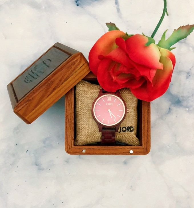 JORD watch with box open