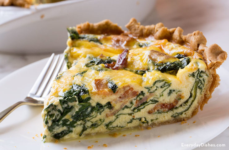 Bacon Spinach Quiche Recipe For Breakfast Or Brunch