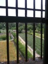 A view of the fields from his room at the asylum. When he painted this view he eliminated the bars from the paintings.