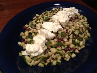 Zucchini and burrata