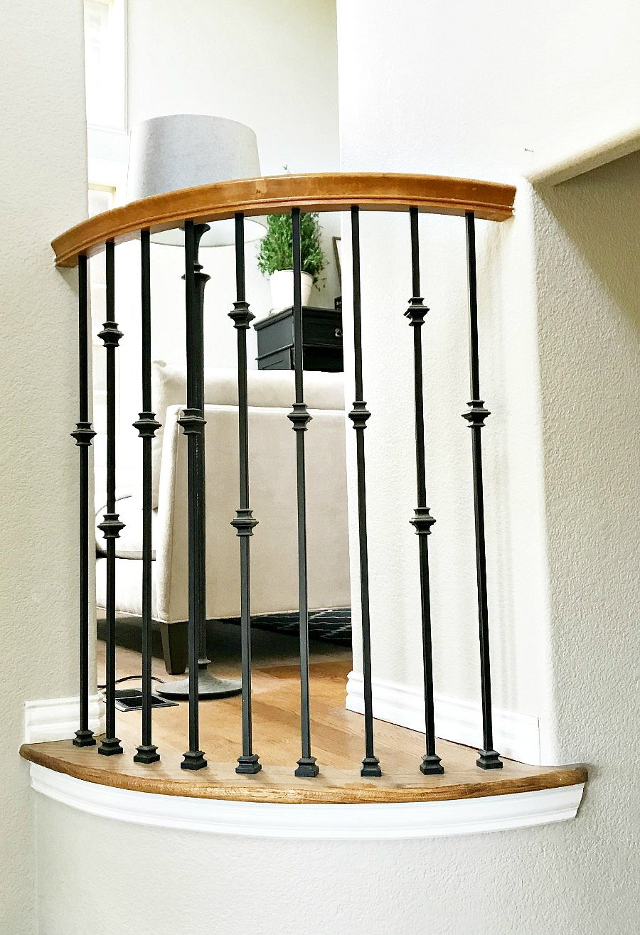 How To Replace Wood Spindles With Wrought Iron