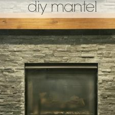 How to Make a Wood Mantel for Under $75.00