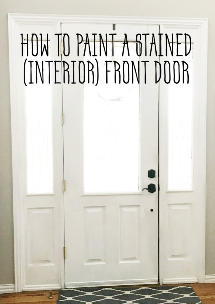 how-to-paint-stained-front-door