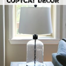 Pottery Barn Inspired Lamp