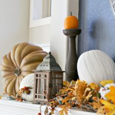 Autumn Mantel for Thanksgiving