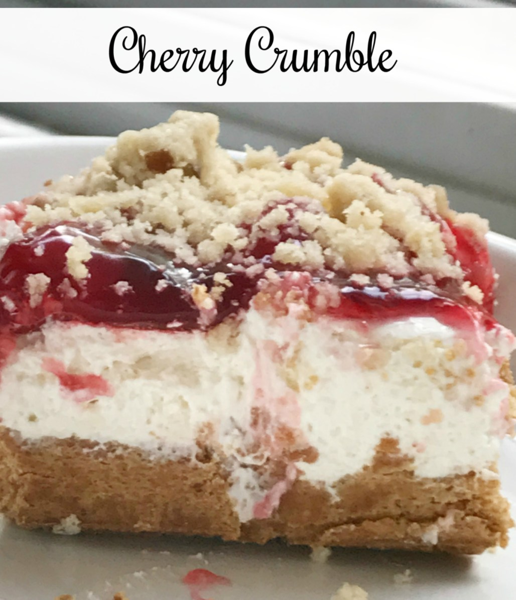 cherry crumble cropped