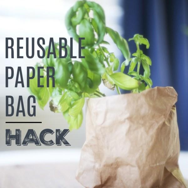 Simple Reusable Paper Bag Hack