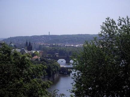 The Vltava river.