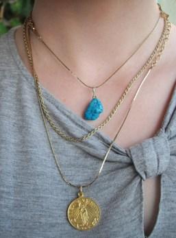 Triple necklace.