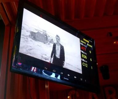 Watching BIGBANG while queuing for a Korean BBQ