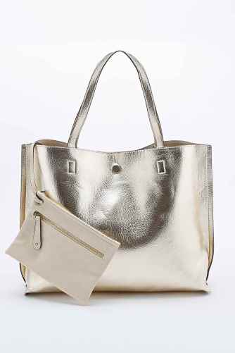 reversible bag gold