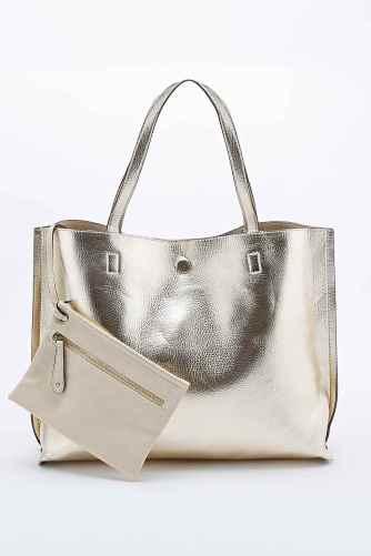 reversible bag gold
