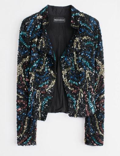 sequin jacket zadig&voltaire