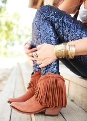 western boots and leggings