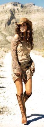 western boots dress