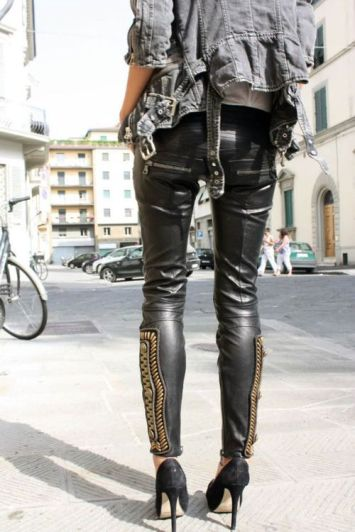 leather pants zipper
