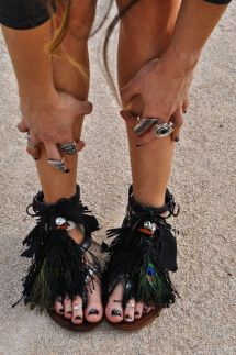 everydayfacts fringed sandals