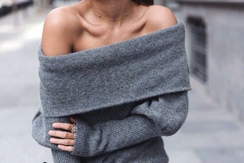 everydayfacts off the shoulders sweater