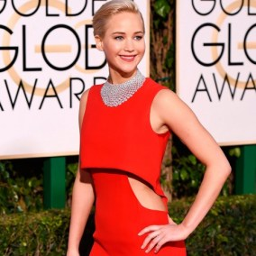 everydayfacts Golden Globes 2016 jennifer lawrence hair