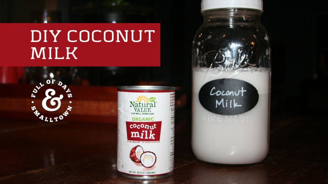 DIY Coconut Milk Recipe