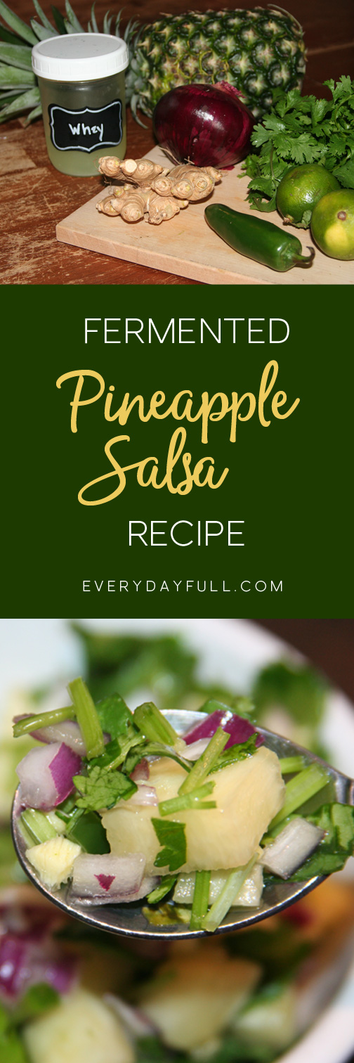 Fermented Pineapple Salsa Pinterest Pin